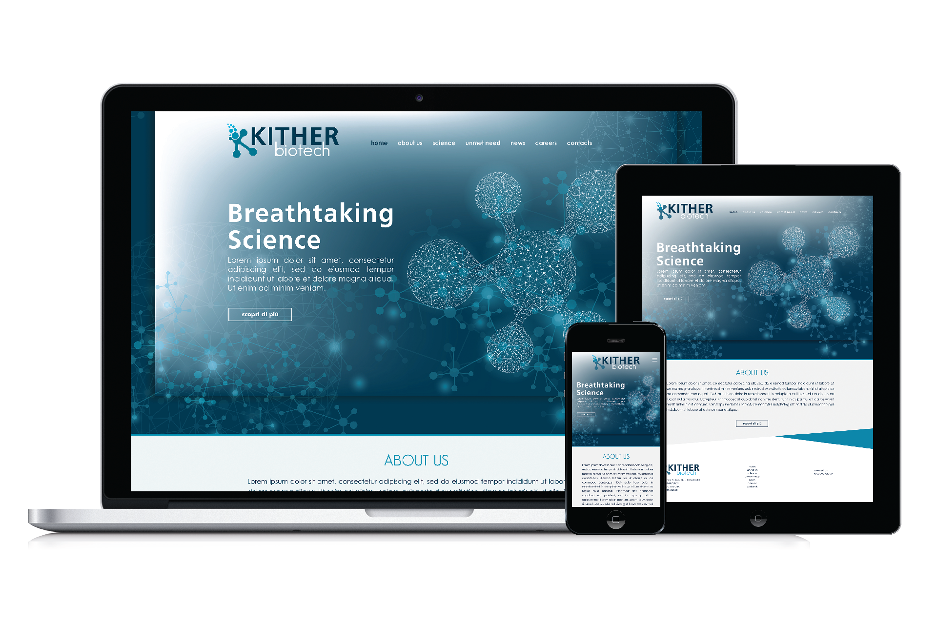 Kither Biotech, sito internet
