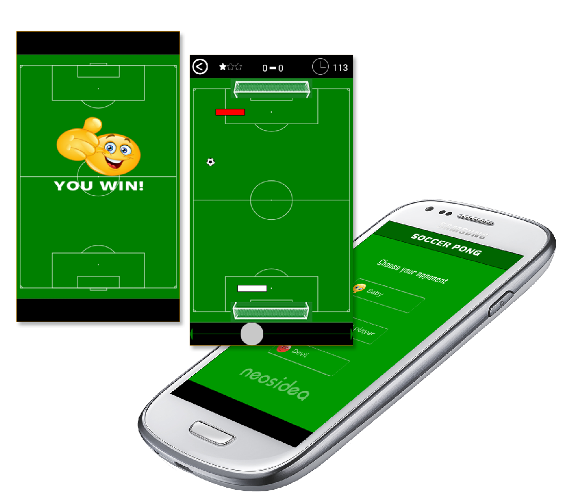 Soccer Pong mobile game Android, iOS, Windows Mobile